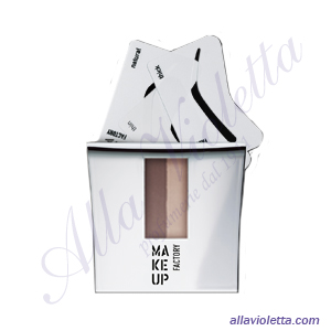 MAKE-UP FACTORY Eye Brow Powder with Stencils 06 Cocoa Brown/Light Almond