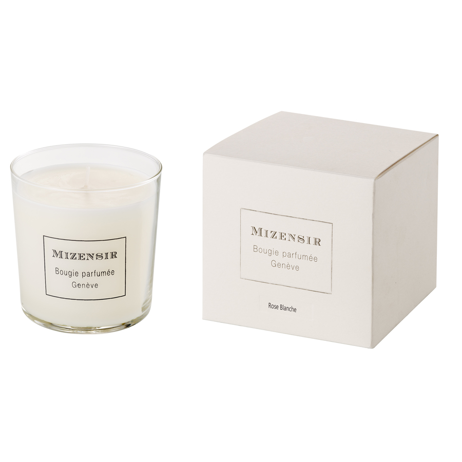 MIZENSIR Rose Blanche Scented Candle 230 gr