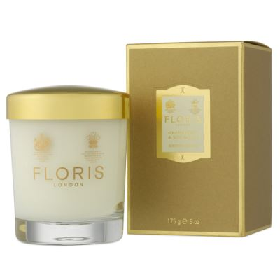 FLORIS LONDON Grapefruit & Rosemary Candle Glass 175 gr