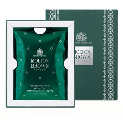 MOLTON BROWN  Fabled Juniper Berries & Lapp Pine Snowflake Bath Salts 5 x 30 gr